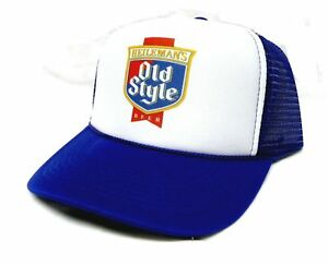 8f0fd7a41e485 Old Style Beer Trucker Hat Mesh Hat Snap Back Hat  NEW royal vintage ...
