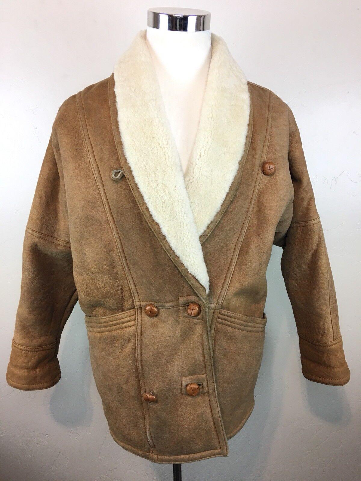 Cruse Genuine German Sheepskin Leather Coat   Men's Size 38