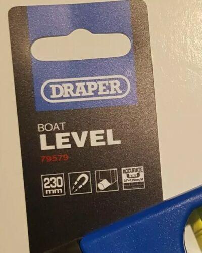 Draper 79579 Strong Magnetic Base 230mm Torpedo Boat Level  Pocket Spirt Level