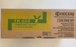 Genuine-Kyocera-TK-554Y-yellow-toner-kit