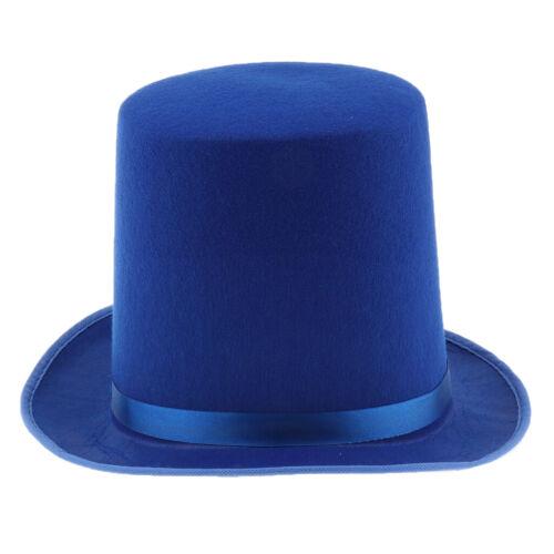 Damen Herren 1920s Kostüm Party Hut Zubehör Zylinderhut Zaubererhu