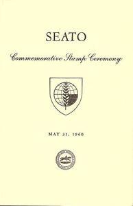 #1151 First Day Ceremony Program 4c SEATO Stamp