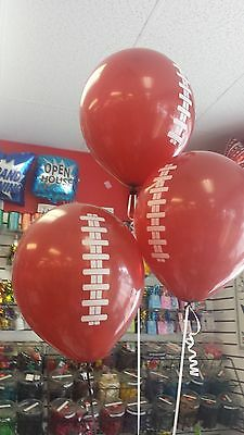 "12 CT. FOOTBALL 11"" Latex Helium Football Printed  Balloons Superbowl Party"