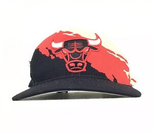 Chicago Bulls Splash Mitchell   Ness Baseball Cap Hat SnapBack Adult ... 59c941d5412