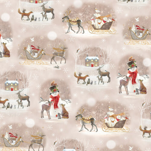 FABRIC Quilting Treasures ~ WOODLAND DREAM ~ Sarah Summers 26475 A by 1//2 yd
