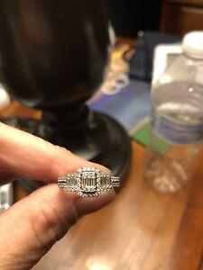 Zales Womens White Gold Diamond Engagement Wedding Ring Ebay