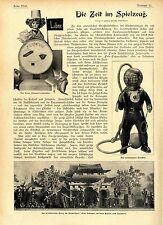 Die Zeit im Spielzeug Taucher Krieg im Kinderspiel Auto Soldaten Torpedoboot1904
