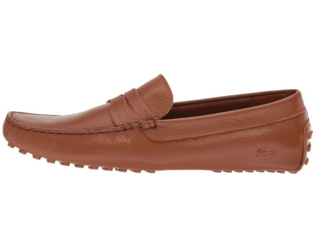 9c21ceee4 Lacoste Mens Concours Tan Leather Loafers Size 13 (179488) for sale ...