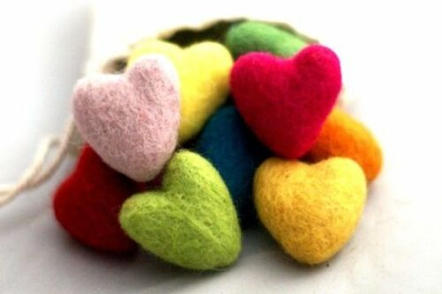 10 Stück x Filzherz FELT HEARTS