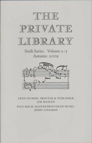 Master Printer Of Music B8.1583 Paul Koch Léon Pichon Printer /& Publisher