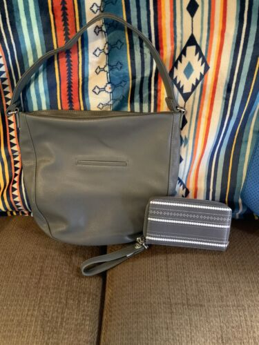 Thirty One Jewell Midway Hobo Charcoal Gray Purse
