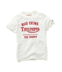 Triumph-Motorcycles-Nevada-Tee-Mens-White-Bud-Ekins-T-Shirt-NEW-MTSS19103