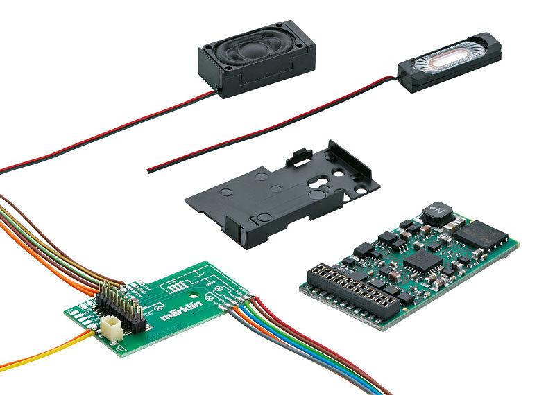 Märklin Digital Electric Locomotive Sound Decoder Set 60977, mSD3, 32 Funtions