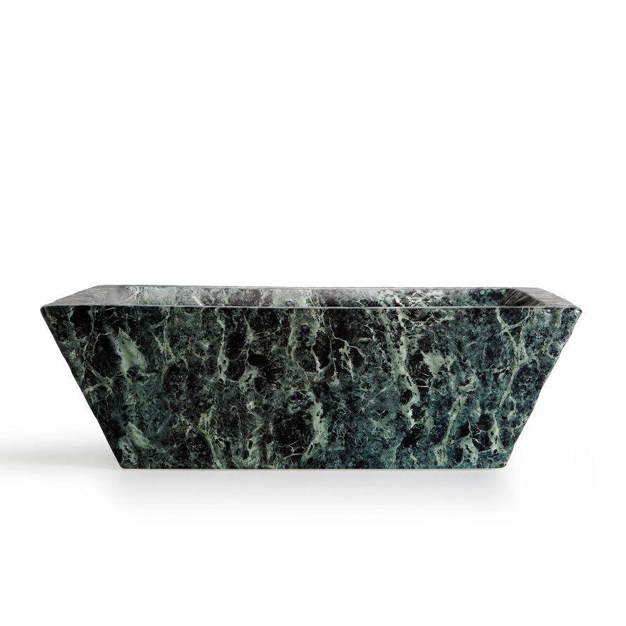 Lavandino Lavabo Appoggio Sospeso Rettangolare Pietra vert Alpi - in Ceramica