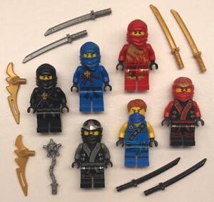 6 Lego Custom ZX Armor Ninjago Minifigs figures ninja Cole Jay Kai Zane Lloy