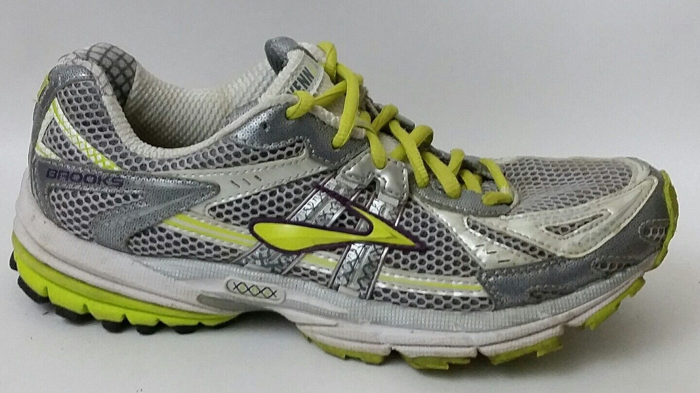 BROOKS RAVENNA 2 Walking Running Womens 8.5 Med shoes Silver Neon Green Sneakers