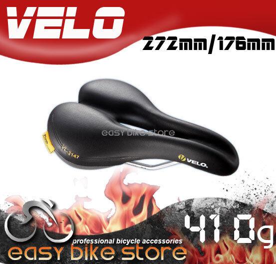 New VELO Plush INCLINED VL 4126  Female  252mmx174mm Saddle   BLACK Cycling