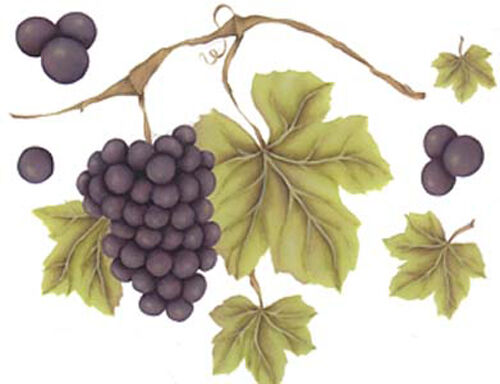 VinTaGe IMaGe GRaPeS On ThE ViNe ShaBby WaTerSLiDe DeCALs *CounTrY KiTcheN*