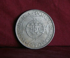 Timor 10 Escudos 1970 World Coin Shield Globe Asia Portugal Indonesia Maltese