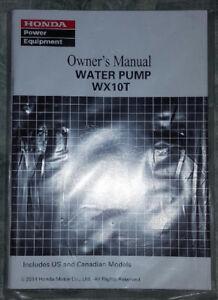 honda wx10 water pump owners manual brand new ebay rh ebay com WB30XT Honda Specs Honda WB30XT Water Pump