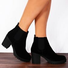 item 4 BLACK CHELSEA CLEATED PLATFORMS PULL ON ANKLE BOOTS SHOES SIZE 3 4 5  6 7 8 -BLACK CHELSEA CLEATED PLATFORMS PULL ON ANKLE BOOTS SHOES SIZE 3 4 5  6 7 ... b959a1dbc233