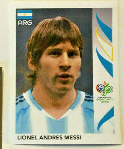 WM World Cup 2006 Rookie 1 Sticker Lionel Messi  Argentinien Mint