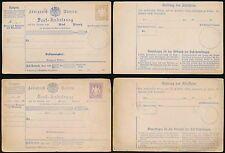GERMANY BAVARIA 1870 PARCEL RECEIPT STATIONERY CARDS 30pf 12pf + COMPOUND 12+2pf