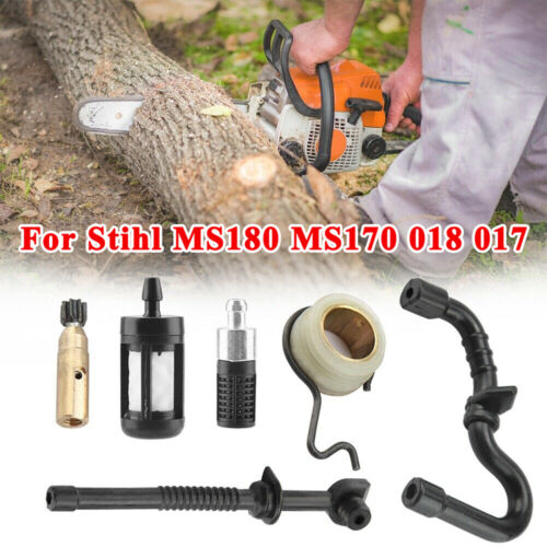 For Stihl MS180 MS170 018 017 Chainsaw Parts Kit Tubing Worm Gear Filter Durable