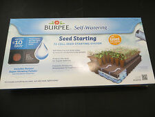 2 Burpee Seed Starting Greenhouse Kit 72 cell kit with soil self watering