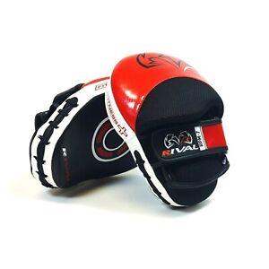 Rival-RPM7-Fitness-Plus-Punch-Mitaines-Rouge-Cuir-Noir-Entrainement-Focus-Patins