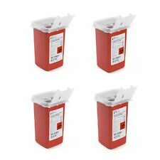 Sharps Container Biohazard 4each Infectious Waste 1 Quart Needle Disposal New