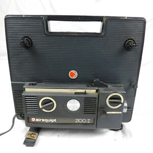 Vintage Airequipt 2100 Z Dual 8mm Film Projector Circa 1974-1979 Turns On
