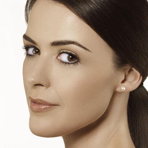 Womens Ladies Pearl Earring 9ct Yellow Gold Earrings White Freshwater Pearl Stud