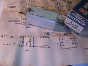 Meissner-17-3488-Coil-Tunable-Core-Transformer-Ratio-Detector-NOS-Qty-1
