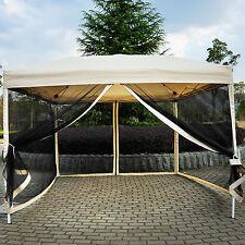Item 7 Outdoor Gazebo Canopy 10u0027 X 10u0027 Pop Up Tent Mesh Screen Patio Shade  Tan  Outdoor Gazebo Canopy 10u0027 X 10u0027 Pop Up Tent Mesh Screen Patio Shade Tan