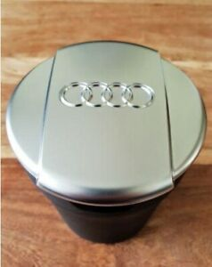 Audi-Ashtray-New-Brushed-chrome-Coin-Storage-Cup-Container-Cigar-Ash-Tray-Q7-A6