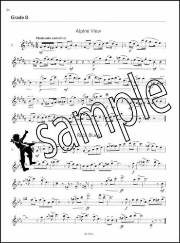 Oboe Sight Reading Tests from 2018 ABRSM Grades 6-8 Sheet Music Book