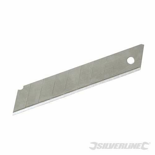 Silverline Snap-off lames 10pk 18 mm 861764