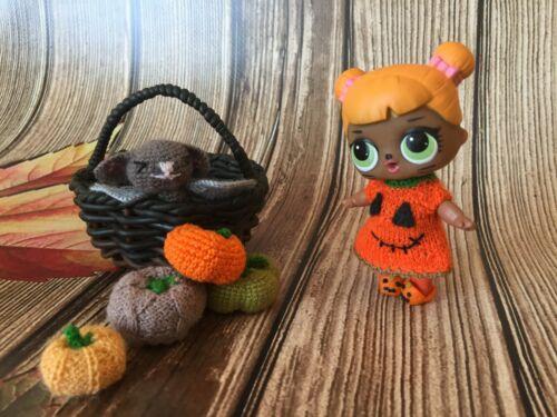 Lol Surprise doll outfit Lol doll knit halloween Pumpkin dress