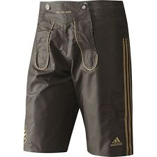 Adidas FC Bayern München Herren Shorts Leder Hose Bermuda Capri Pant braun 170 S