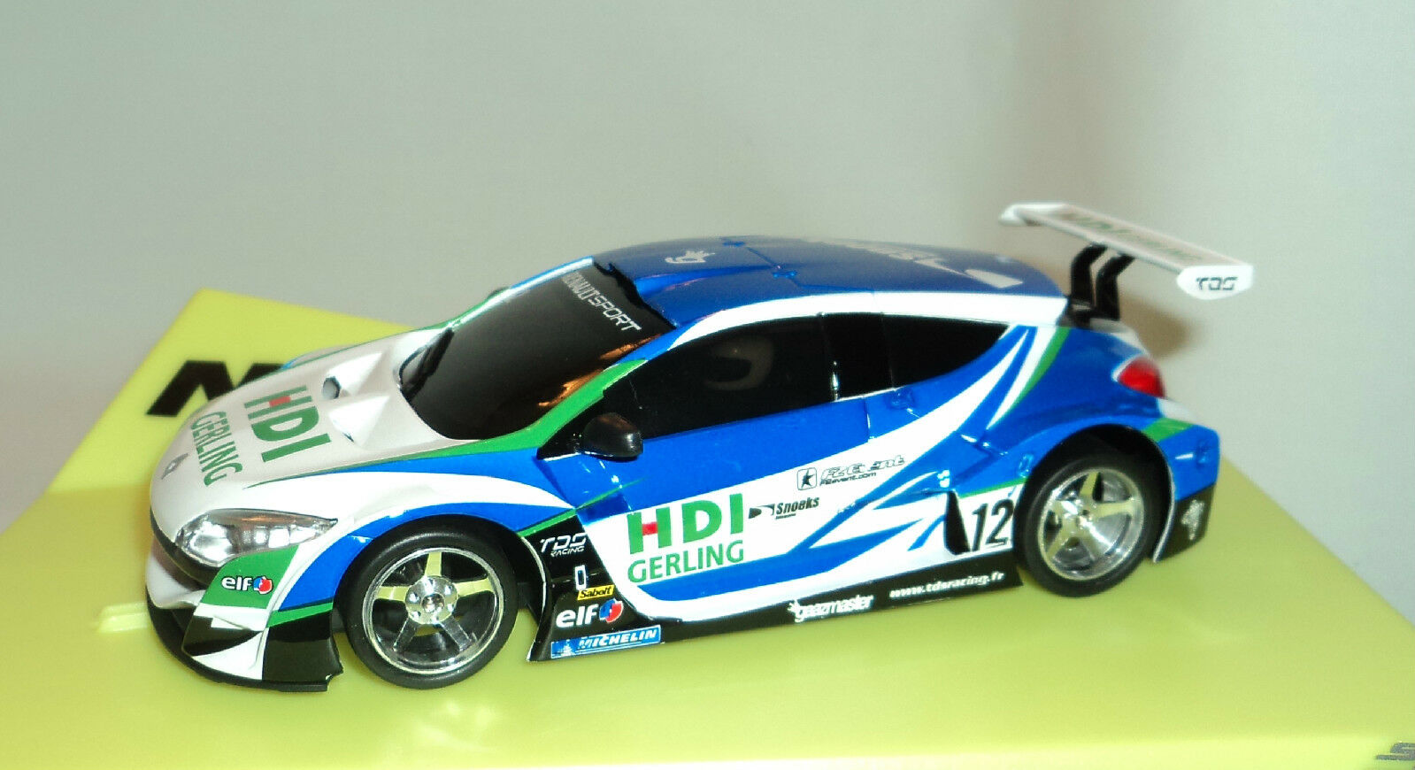 Ninco 50626 Renault Megane Trophy HDI GERLING Lightning NC12 moteur 1 32 Slot Car