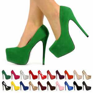 WOMENS-LADIES-CONCEALED-PLATFORM-HIGH-STILETTO-HEEL-PUMPS-COURT-SHOES-SIZE-3-8-X