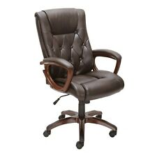 Luxury Leather Executive Office Chair Button Tuftedsale Free Shipping