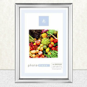 A4-Certificate-Photo-Picture-Frame-Silver-No-Black-Freepost-New-M