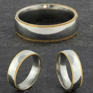 6mm-Stainless-Steel-Mens-amp-Womens-Wedding-Band-Silver-amp-Gold-Ring-Sizes-M-to-Y