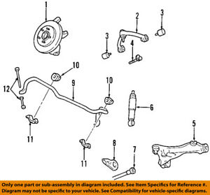 Ford Oem 97 02 Expedition Front Suspension Shock Absorber