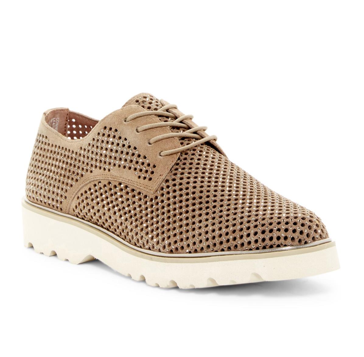 NEU DONALD PLINER Taupe CONNI Perforated Oxfords 7.5 M 228 NIB connisp sneaker