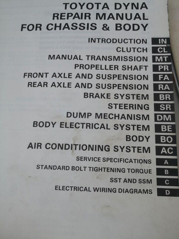 (13)Værkstedsbog, Toyota dyna bog