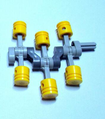 Pleuelstange hell grau 12 Stück »NEU« # 2852 Lego Technik Pleuel