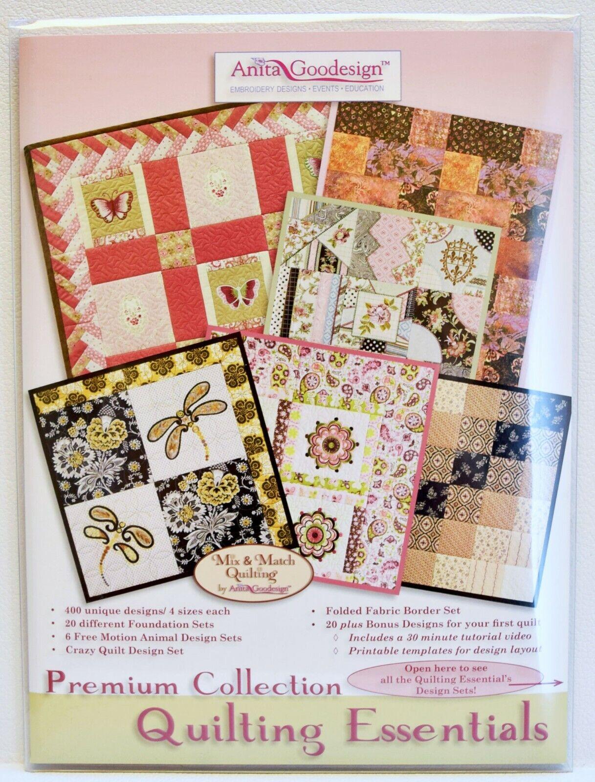 Anita Goodesign Premium Edition Beautiful Blocks /& Borders Quilting with BOOK